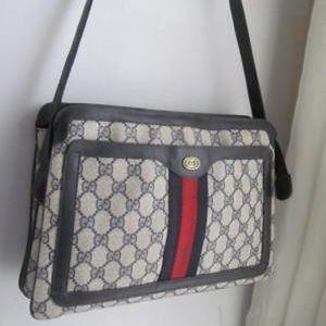 Authentic Vintage Gucci 3 Gusset Monogram Bag